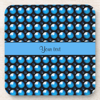Stylish Blue Buttons Beverage Coasters