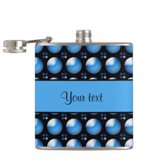 Stylish Blue Buttons Flasks