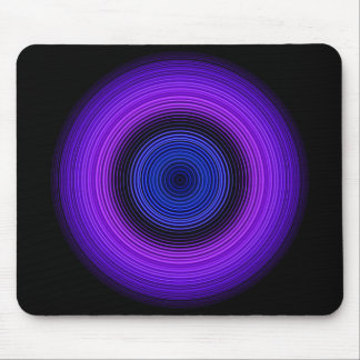 Stylish Blue Circle Pattern Mouse Pad