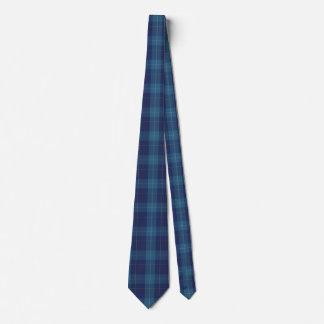 Stylish Blue Clan MacKerrell Tartan Plaid Neck Tie