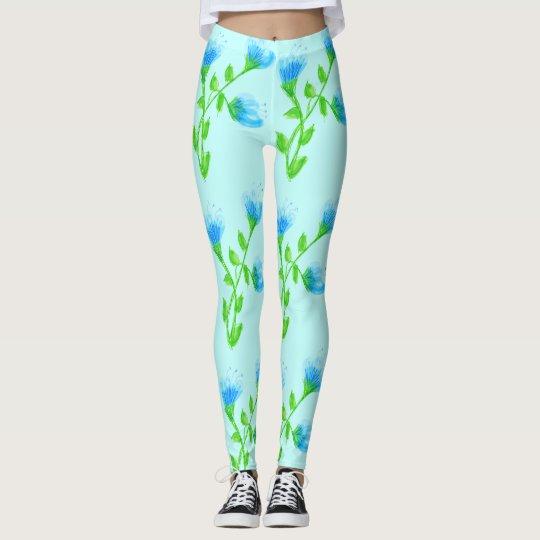 Stylish Blue Floral Pants