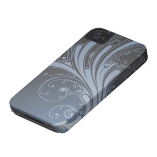 Stylish blue flourish swirls blackberry bold case