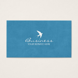 Stylish Blue Flying Swallow Business Cards