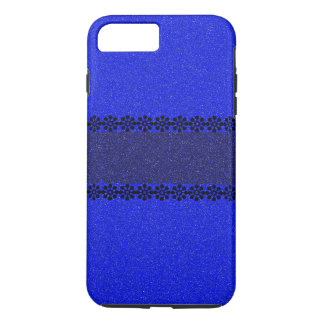 Stylish Blue Glitter iPhone 7 Plus Case
