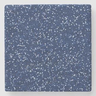 Stylish Blue Glitter Stone Coaster