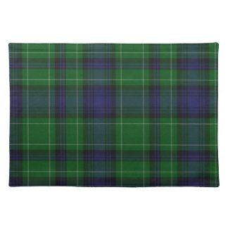 Stylish Blue & Green Abercrombie Tartan Plaid Placemat