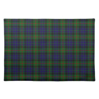 Stylish Blue, Green, and Red Clan Gun Tartan Plaid Placemat