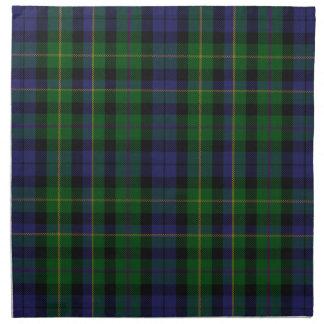 Stylish Blue & Green MacBride Tartan Plaid Napkin