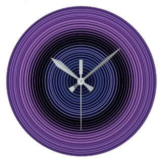 Stylish Blue Pattern Large Clock