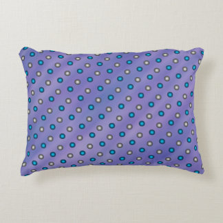 Stylish Blue & Silver Polka Dots on Lavender CUTE! Decorative Pillow