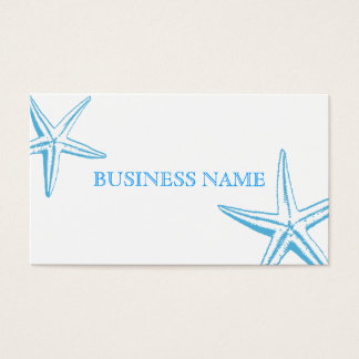 Stylish Blue Starfish Beauty Salon Business Card