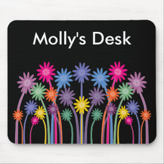 Stylish & Bold Symmetrical Flowers Mousepad