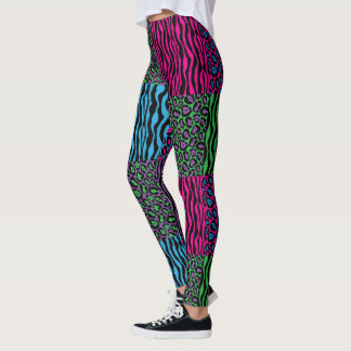 Stylish Brights Leopard & Zebra Print Leggings
