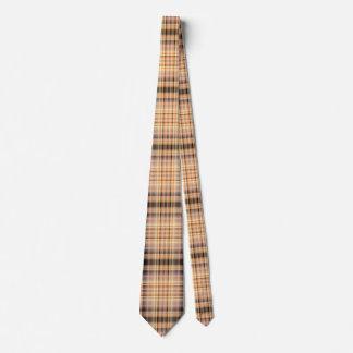 Stylish brown checkered Pattern Tie