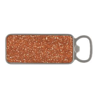 Stylish Brown Glitter Magnetic Bottle Opener