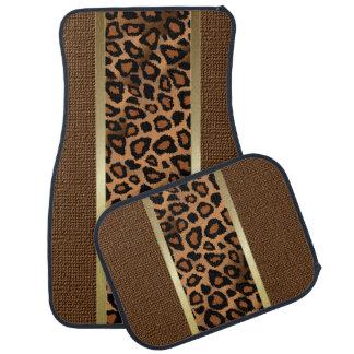 Stylish Brown Leopard Animal  Pattern Car Mat