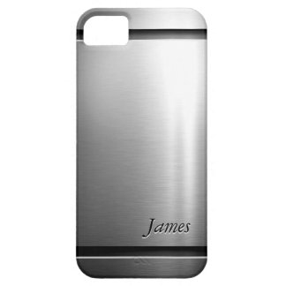 Stylish Brush Metal Stainless Steel Look iPhone 5 Case