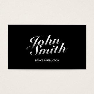 Stylish Calligraphic Dance Business Card