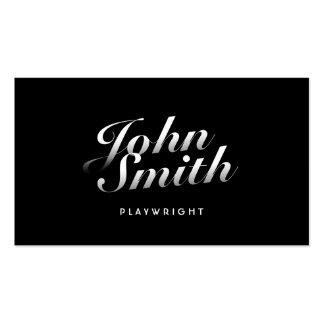 Stylish Calligraphic Playwright Business Card