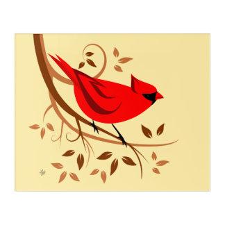 Stylish Cardinal Bird Art