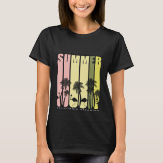 Stylish casual T-shirt Summer typography.