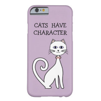 Stylish Cat Theme Barely There iPhone 6 Case