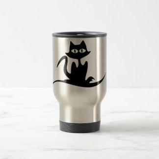 stylish cat travel mug