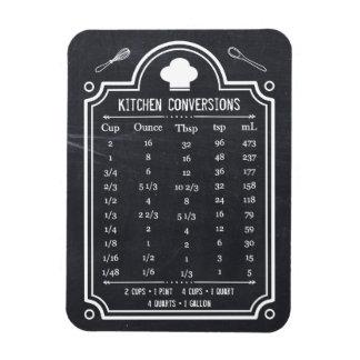 Stylish Chalkboard Kitchen Conversion Chart Magnet