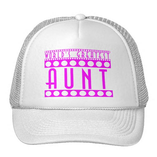 Stylish Chic Gifts for Aunts World's Greatest Aunt Hat