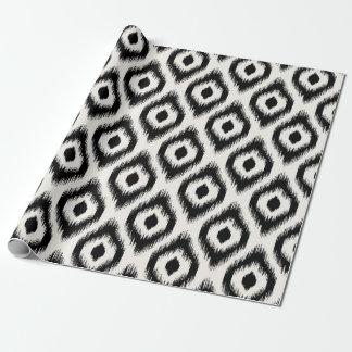 Stylish Chic Mod Black Ivory Diamond Ikat Pattern