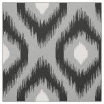 Stylish Chic Pink Black Diamond Ikat Pattern Fabric