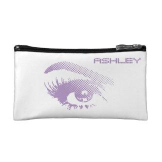 Stylish Chic Pretty Eye of Woman Halftone Violet Makeup Bags