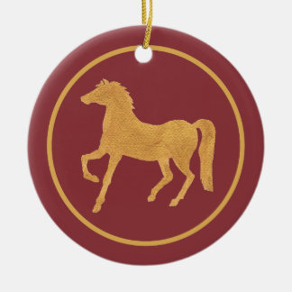 Stylish Chinese Year of the Horse Ornament