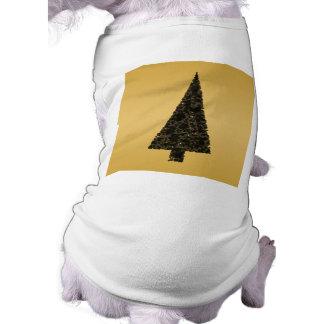 Stylish Christmas Tree. Black and Gold. Dog Clothes