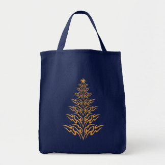 Stylish Christmas Tree Tote Bag