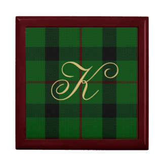 Stylish Clan Kincaid Monogram Keepsake Box
