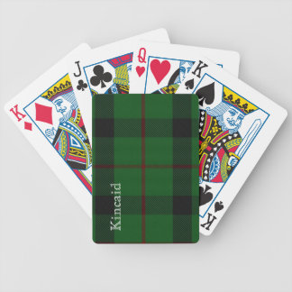 Stylish Clan Kincaid Tartan Plaid Playing Cards