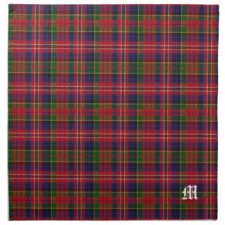 Stylish Clan MacPherson Monogram Tartan Plaid Napkin