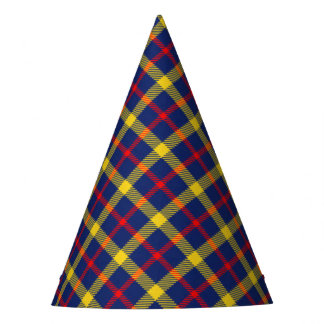 Stylish Classic Tartan Plaid Patterned Party Hat