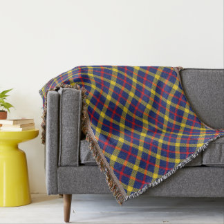Stylish Classic Tartan Plaid Patterned Throw Blanket