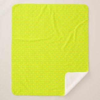 Stylish classic yellow and green Sherpa Blanket