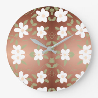 Stylish Clock With Honey Brown