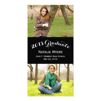Stylish Collage Graduation Announcement Photo Card Template