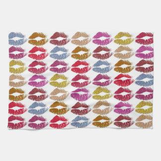 Stylish Colorful Lips #11 Kitchen Towel