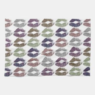 Stylish Colorful Lips #19 Kitchen Towel