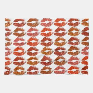 Stylish Colorful Lips #21 Kitchen Towel