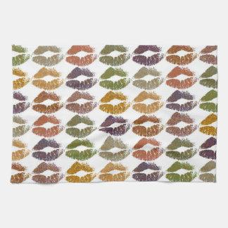 Stylish Colorful Lips #25 Kitchen Towel