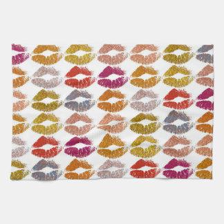 Stylish Colorful Lips #26 Kitchen Towel