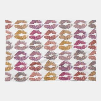 Stylish Colorful Lips #28 Kitchen Towel