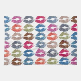 Stylish Colorful Lips #30 Kitchen Towel